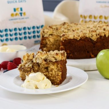 Apple Cake with Oat Crumble